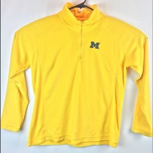 Columbia fleece yellow sweatshirt size XL